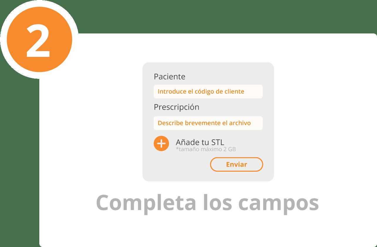 PASO 2 - COMPLETA LOS CAMPOS